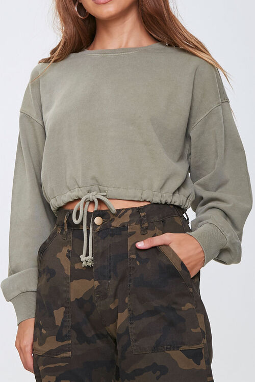 French Terry Pullover Top, image 1
