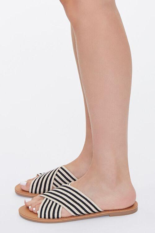 Striped Crisscross Vamp Sandals, image 2
