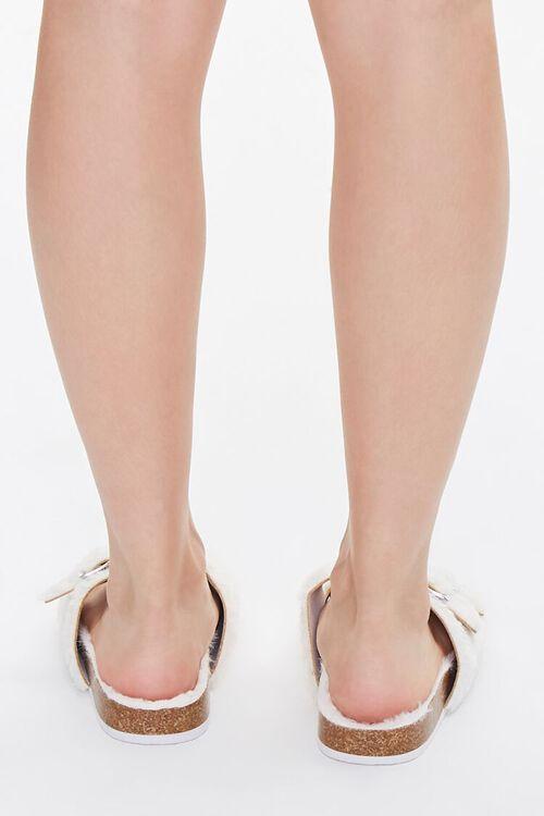 Buckled Faux Fur Sandals, image 3
