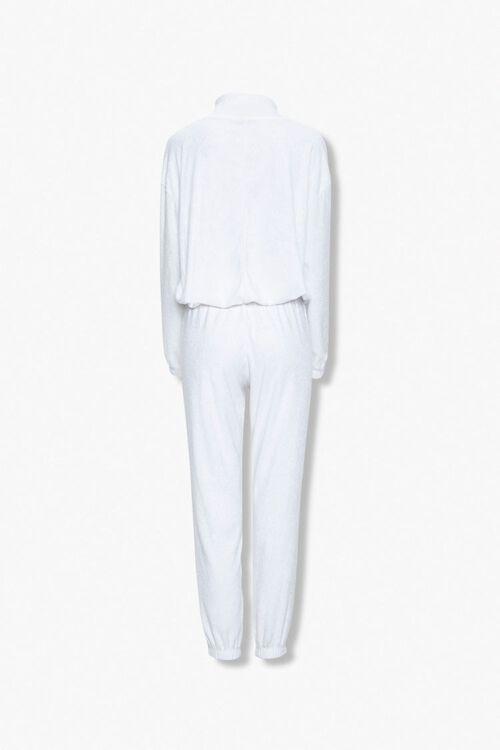 WHITE Terry Cloth Jacket & Sweatpants Set, image 2