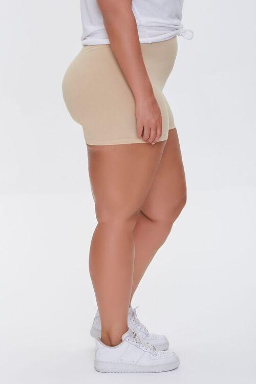 Plus Size Basic Organically Grown Cotton Hot Shorts, image 3