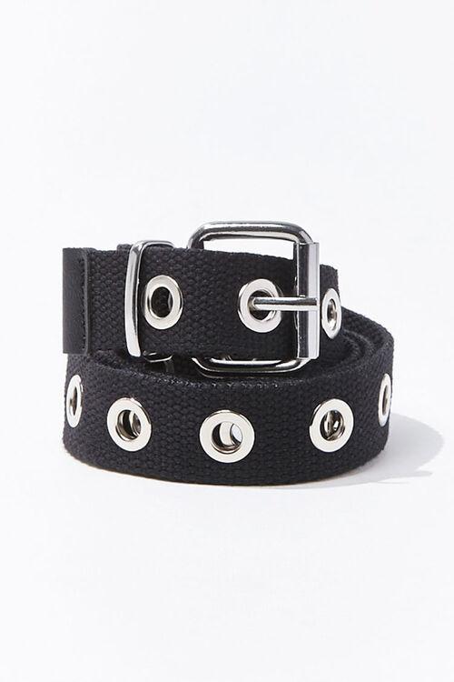 Grommet-Embellished Canvas Belt, image 1