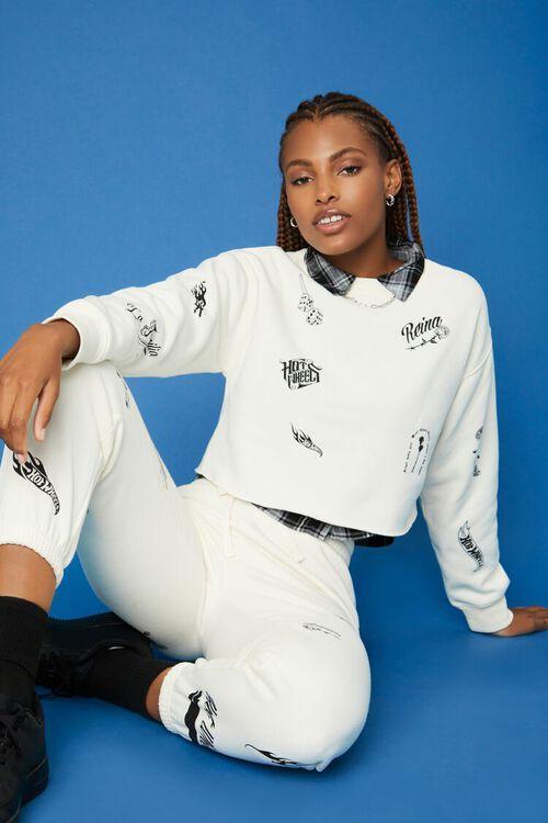 CREAM/BLACK Hot Wheels Fleece Pullover, image 1