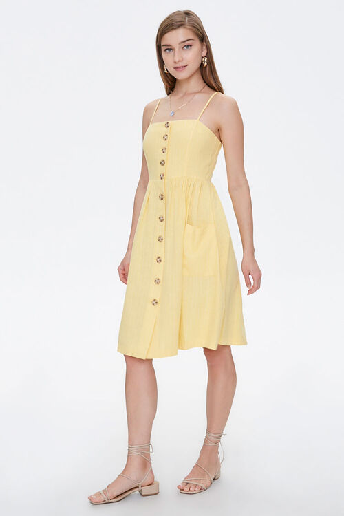 Button-Front Cami Dress, image 4