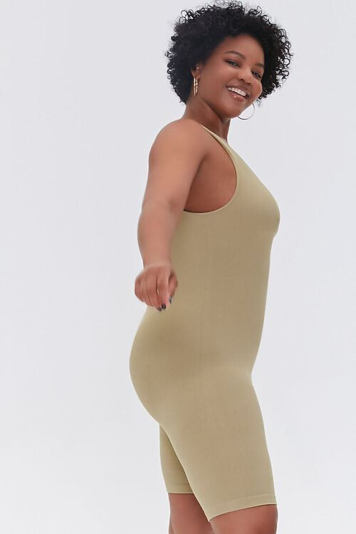 SAGE Plus Size Sleeveless Fitted Romper, image 2