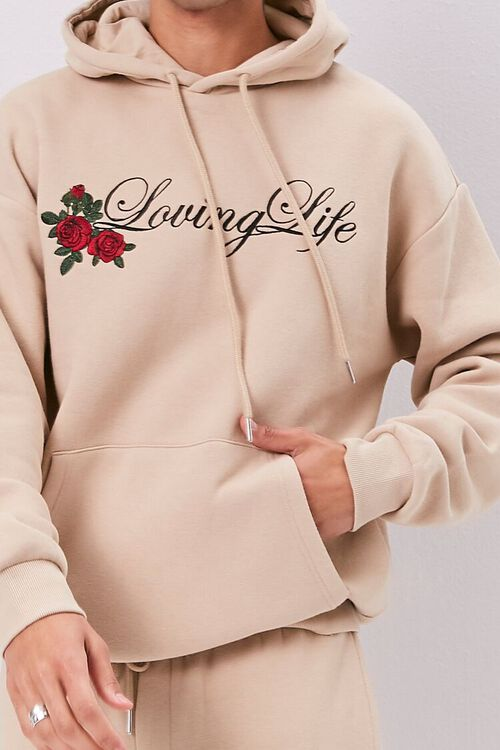 Loving Life Embroidered Graphic Hoodie, image 5