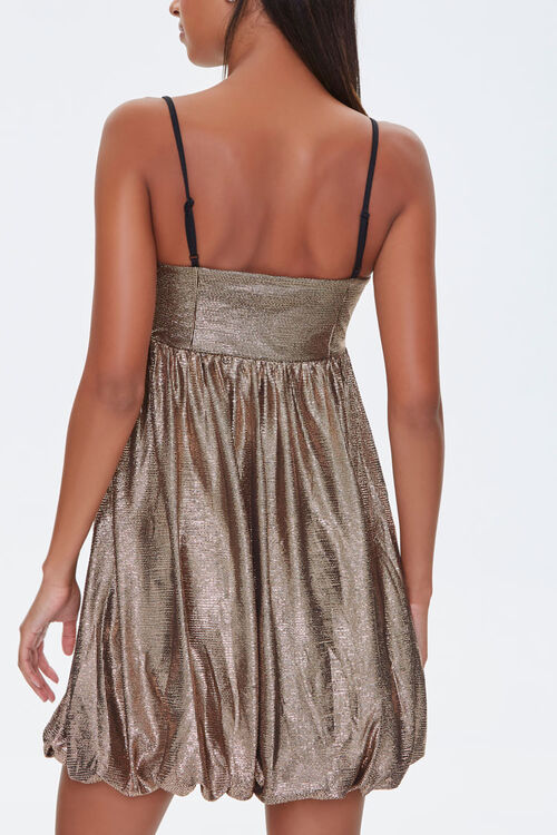 Metallic Fit & Flare Dress, image 3