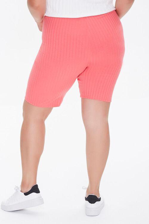 Plus Size Ribbed Biker Shorts, image 4