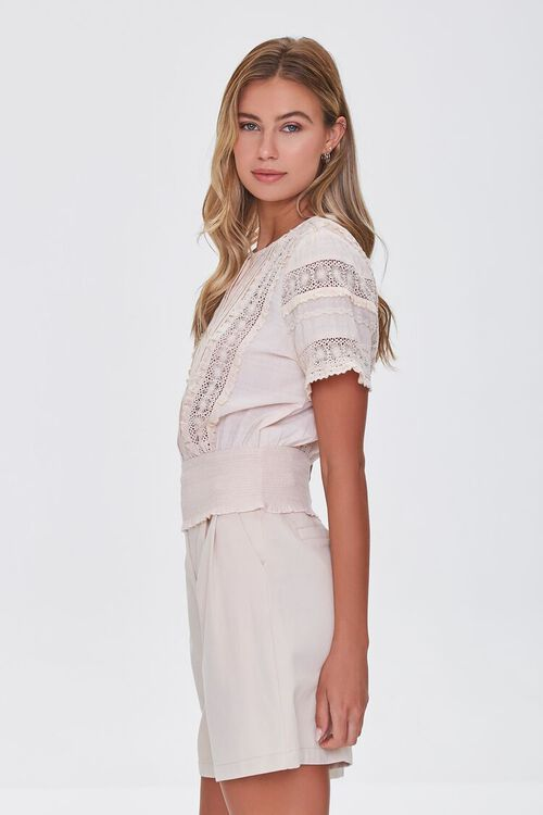 Lace-Trim Pintucked Top, image 2