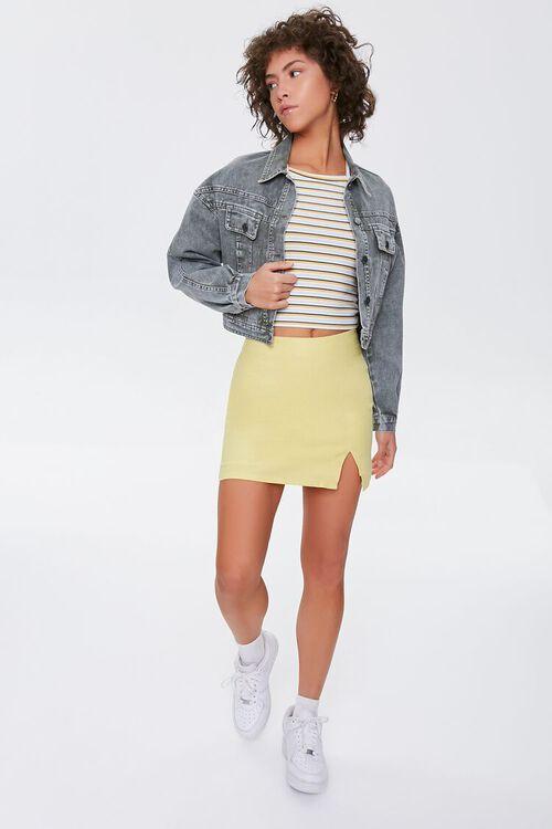 Linen-Blend Mini Skirt, image 5