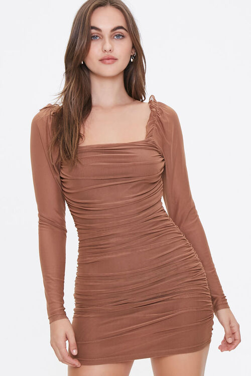 Ruched Bodycon Dress, image 1