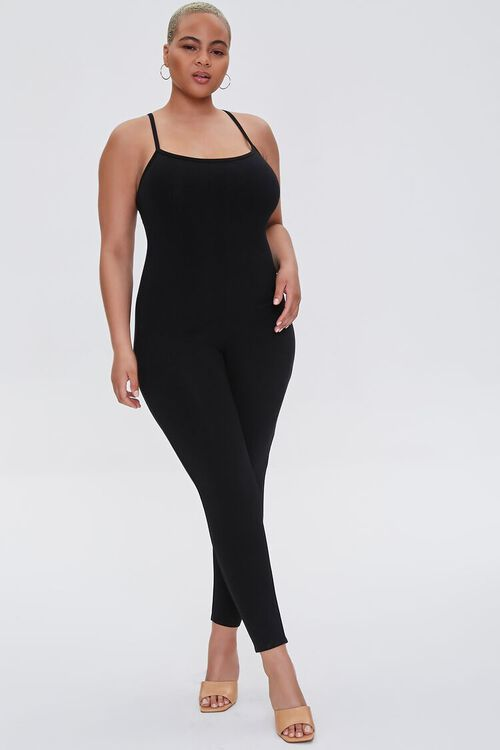 Plus Size Fitted Cami Jumpsuit, image 1