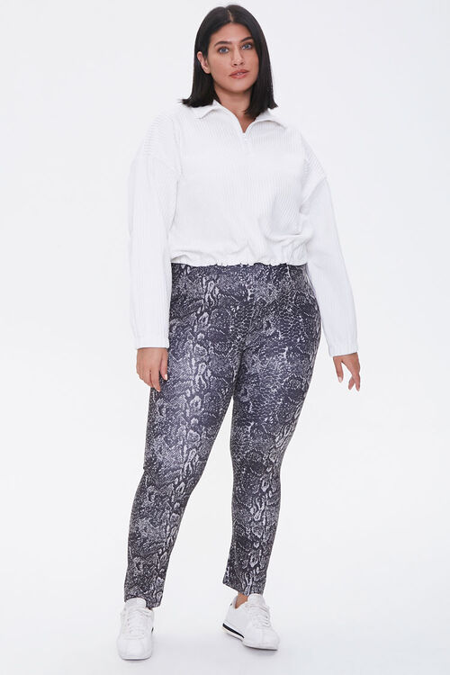 Plus Size Active Snake Leggings, image 5