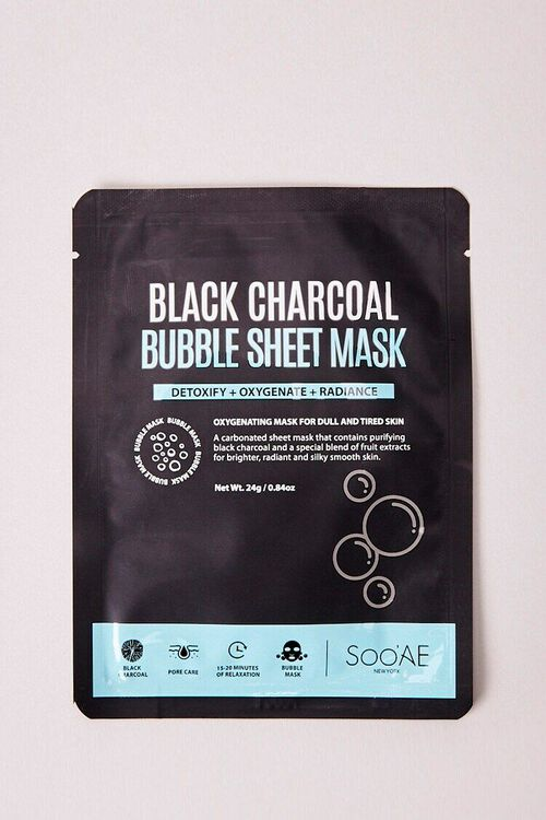 BLACK Black Charcoal Bubble Sheet Mask, image 1