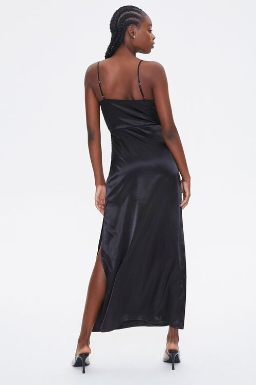 Satin Cowl Neck Maxi Dress, image 4