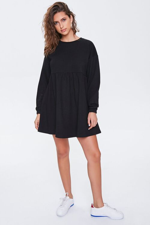 Fleece Drop-Sleeve Mini Dress, image 4