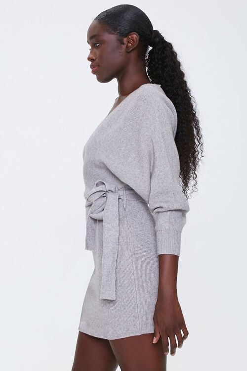 Ribbed Wrap Mini Dress, image 2