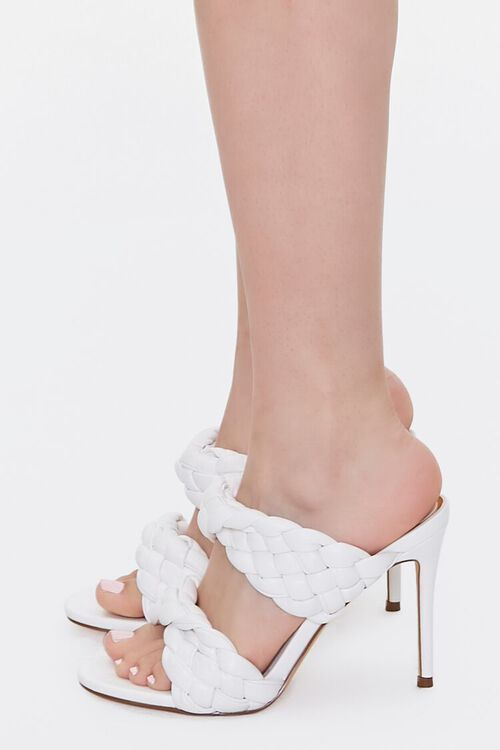 WHITE Braided Twisted High Heels, image 2