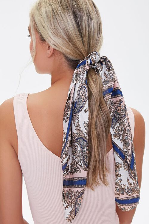 Baroque Print Bow Scrunchie, image 1