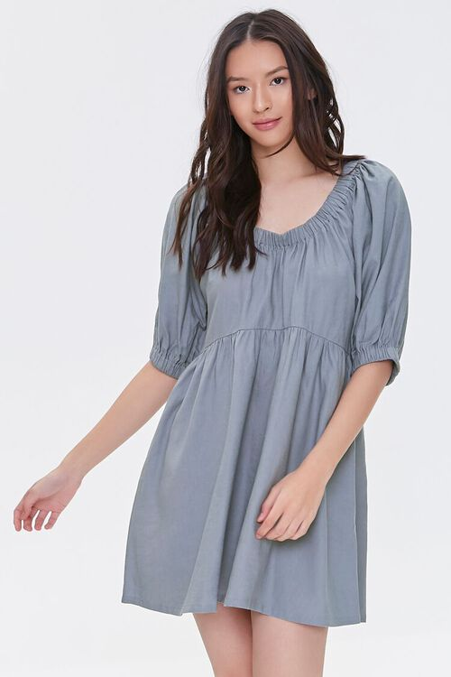 Linen-Blend Mini Dress, image 1