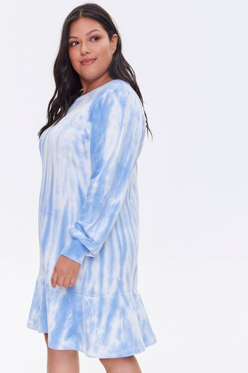 Plus Size Tie-Dye Sweatshirt Dress, image 2