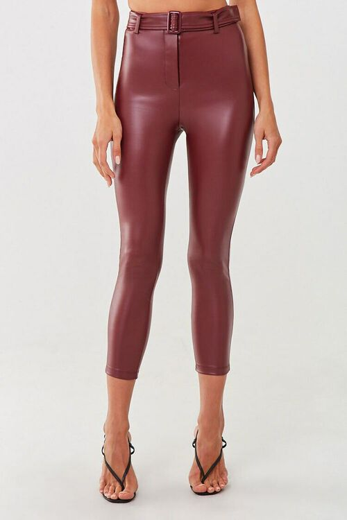 Faux Leather Ankle Pants, image 2