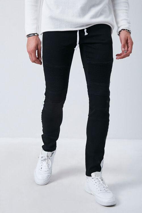 Side-Striped Skinny Jeans, image 2