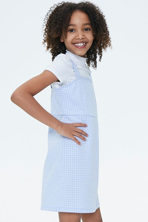 Girls Gingham Plaid Dress (Kids), image 2