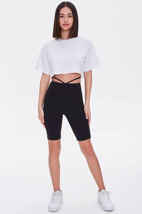Strappy Cutout Biker Shorts, image 5