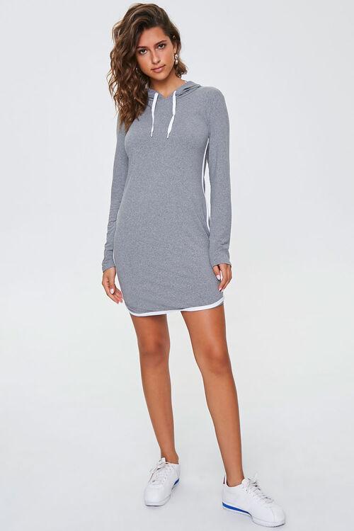 Contrast-Trim Hoodie Dress, image 4