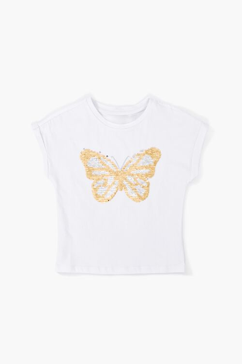 Girls Butterfly Sequin Graphic Tee (Kids), image 1