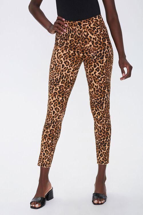 Leopard Print Skinny Jeans, image 2