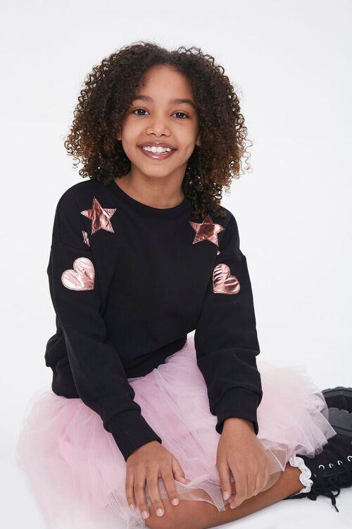 Girls Metallic Graphic Sweatshirt (Kids), image 1
