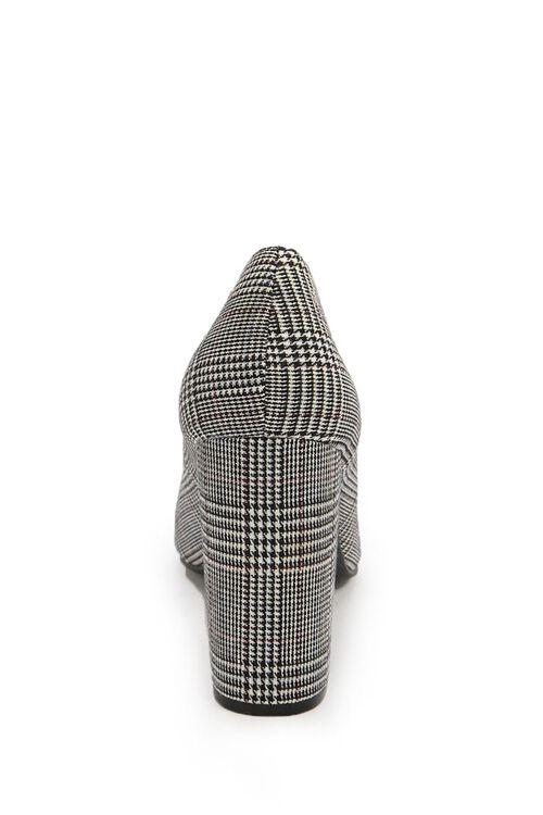 BLACK/WHITE Glen Plaid Pointed Toe Pumps, image 5