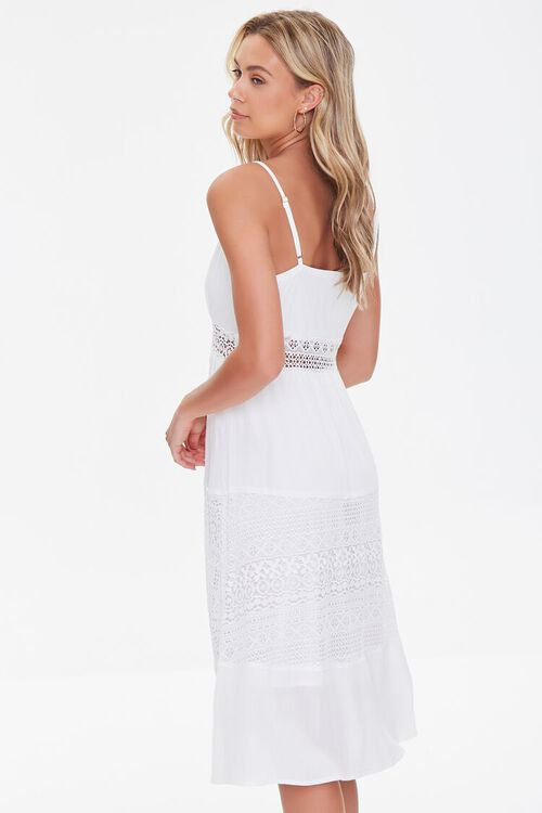 WHITE Lace-Trim Cami Dress, image 2