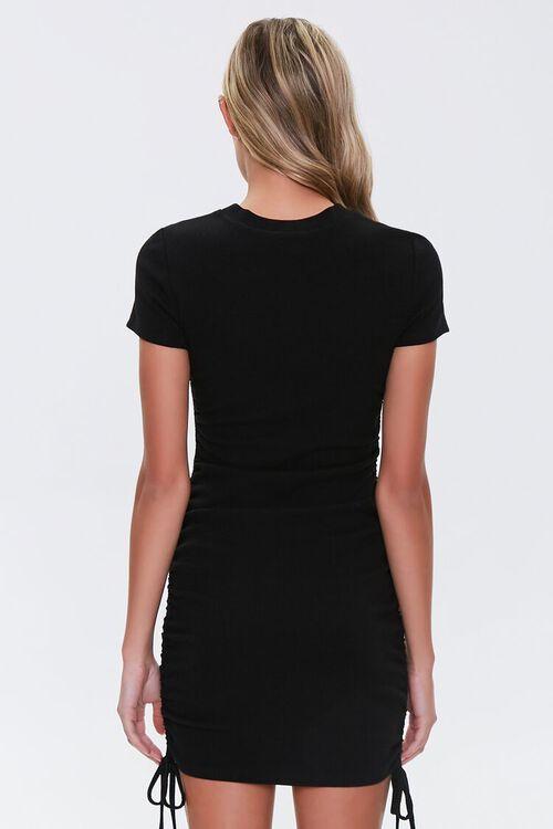 Ruched Drawstring T-Shirt Dress, image 3