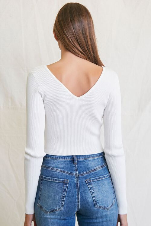 CREAM Ribbed Cropped Sweater, image 3
