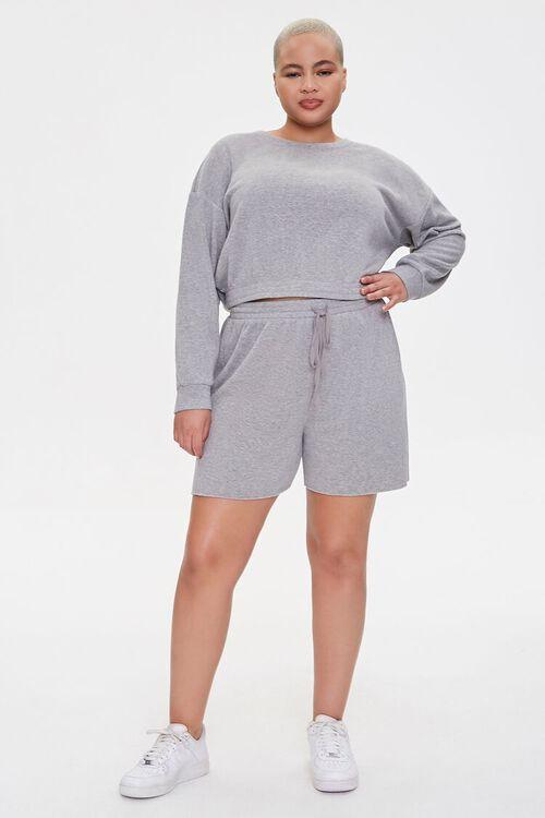 Plus Size Sweatshirt & Shorts Set, image 4