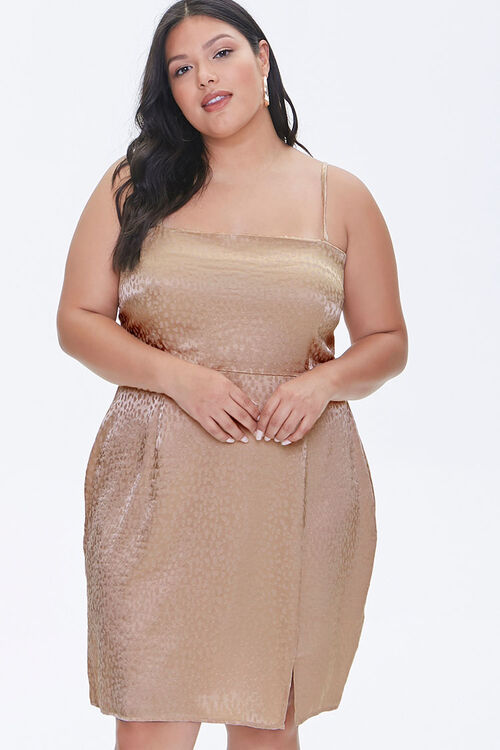 Plus Size Jacquard Cami Dress, image 1