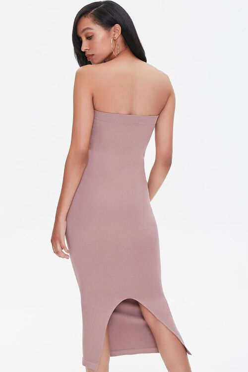 DUSTY LAVENDER Seamless Strapless Bodycon Midi Dress, image 3