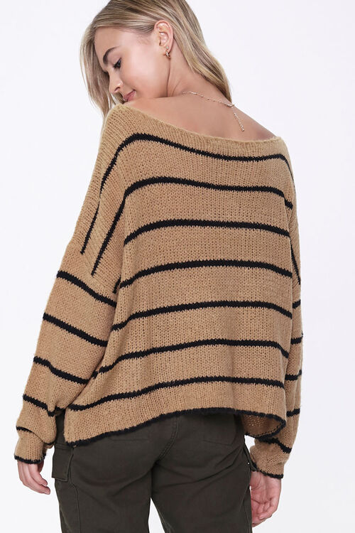 Striped Off-the-Shoulder Sweater, image 3