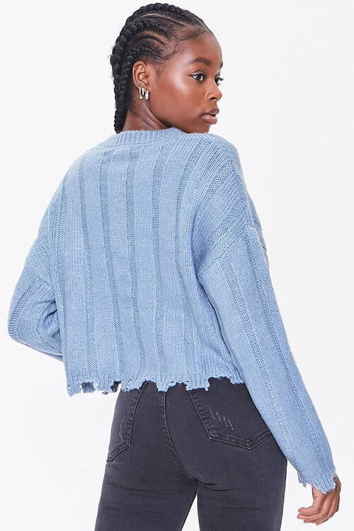 Ribbed Tattered-Trim Sweater, image 3