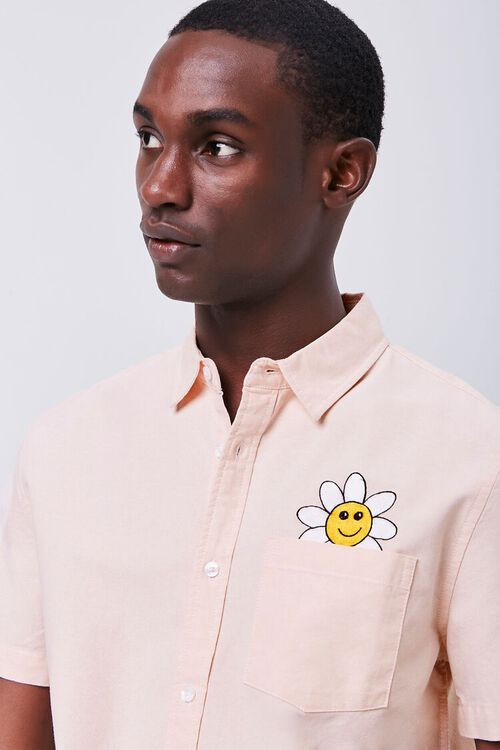 Fitted Embroidered Flower Pocket Shirt, image 6