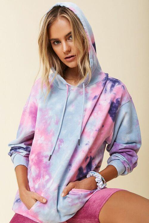 Tie-Dye Longline Hoodie, image 1