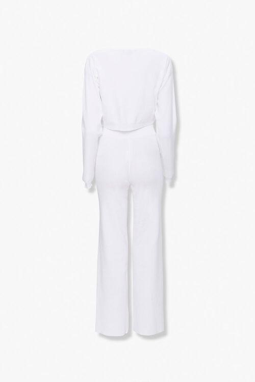 IVORY Drop-Shoulder Sweater Top & Pants Set, image 3