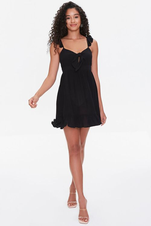 Flounce-Trim Mini Dress, image 4