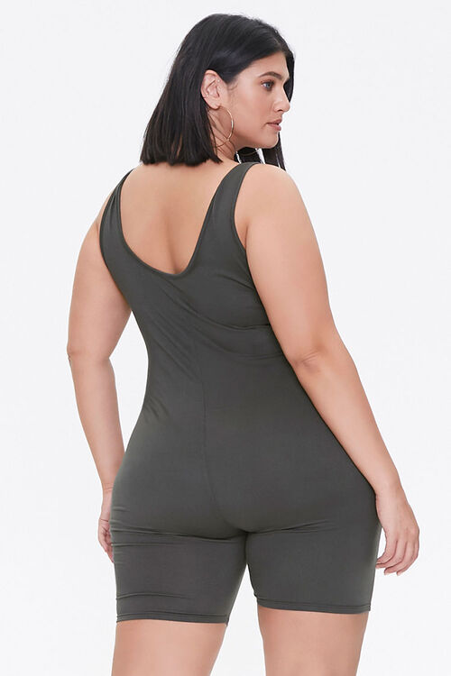 Plus Size Fitted Tank Romper, image 3