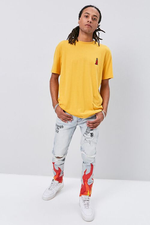 Flame Graphic Distressed Jeans, image 5