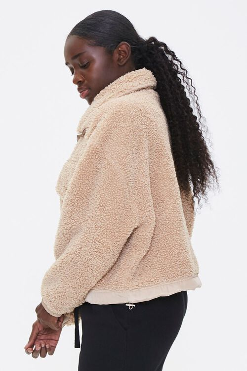 Faux Shearling Zip-Up Jacket, image 2
