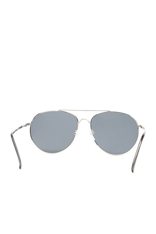 Men Flat-Lens Aviator Sunglasses, image 4